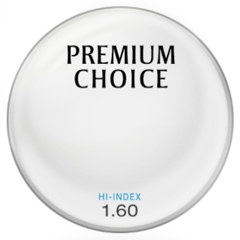 Premium Choice Hi-Index Plastic 1.60 Lenses
